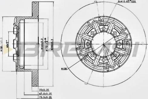 Bremsi CD6858S - Bremžu diski interparts.lv