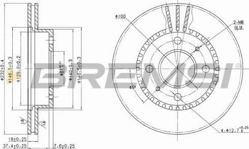 Bremsi CD6866V - Bremžu diski interparts.lv