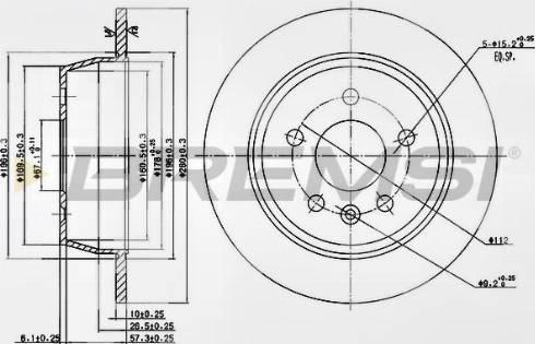 Bremsi CD6861S - Bremžu diski interparts.lv