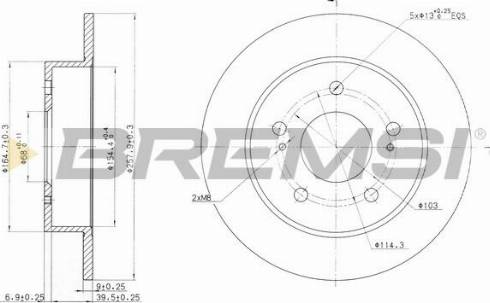 Bremsi CD6863S - Bremžu diski interparts.lv