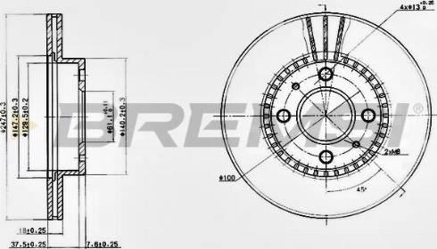 Bremsi CD6867V - Bremžu diski interparts.lv