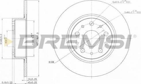Bremsi CD6805S - Bremžu diski interparts.lv