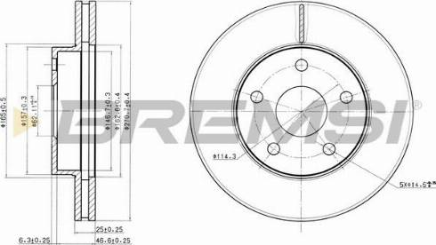 Bremsi CD6806V - Bremžu diski interparts.lv