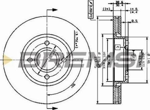 Bremsi CD6801V - Bremžu diski interparts.lv