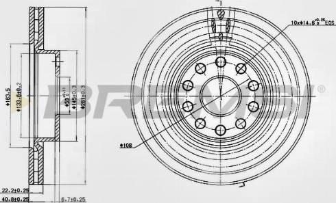 Bremsi CD6803V - Bremžu diski interparts.lv