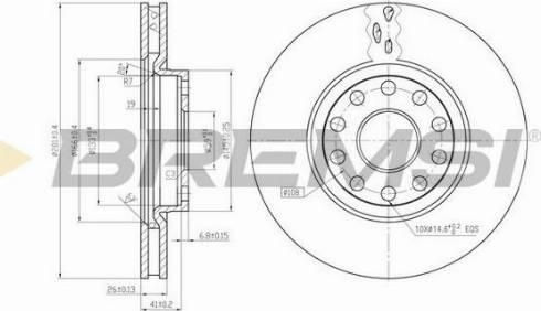 Bremsi CD6802V - Bremžu diski interparts.lv