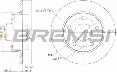 Bremsi CD6818S - Bremžu diski interparts.lv