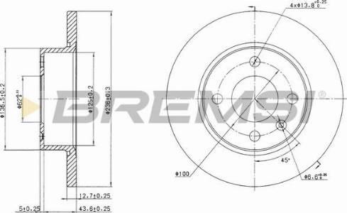 Bremsi CD6813S - Bremžu diski interparts.lv