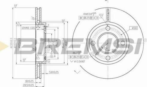Bremsi CD6812V - Bremžu diski interparts.lv