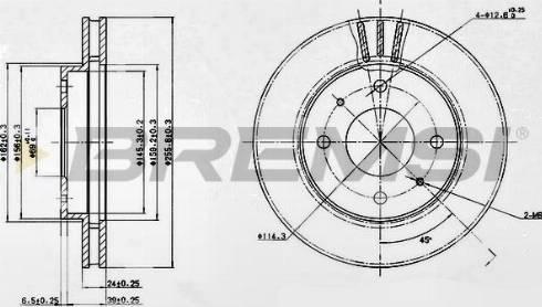 Bremsi CD6885V - Bremžu diski interparts.lv