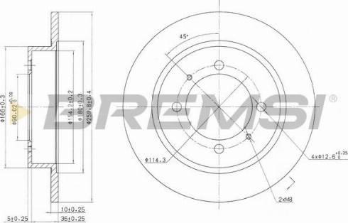 Bremsi CD6886S - Bremžu diski interparts.lv