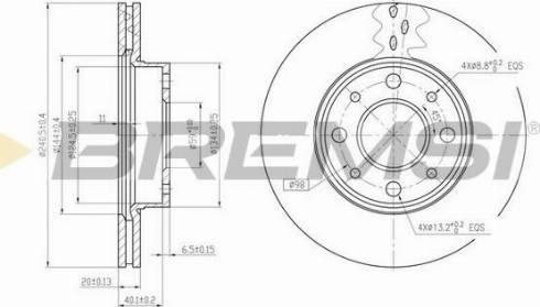 Bremsi CD6888V - Bremžu diski interparts.lv