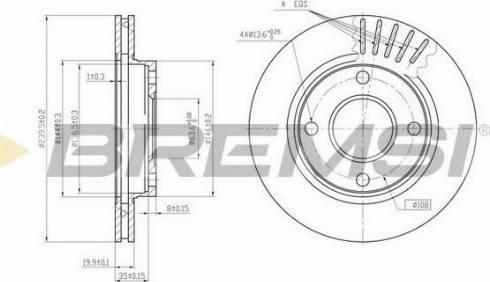 Bremsi CD6887V - Bremžu diski interparts.lv