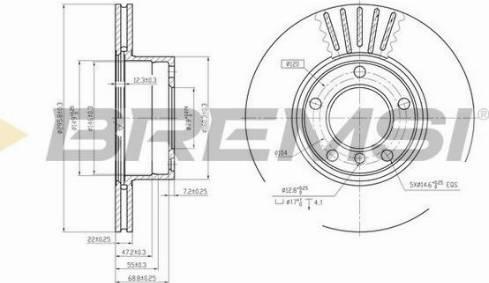 Bremsi CD6834V - Bremžu diski interparts.lv