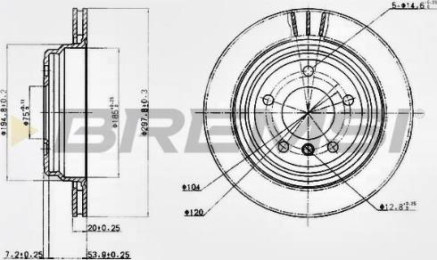 Bremsi CD6836V - Bremžu diski interparts.lv