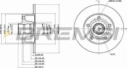 Bremsi CD6830S - Bremžu diski interparts.lv
