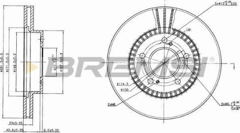 Bremsi CD6829V - Bremžu diski interparts.lv
