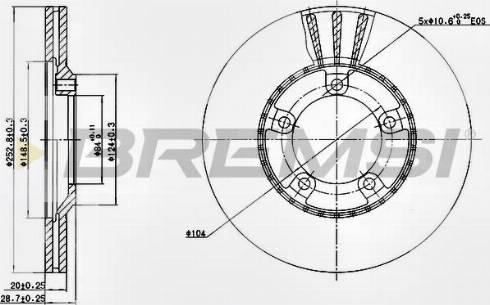 Bremsi CD6826V - Bremžu diski interparts.lv