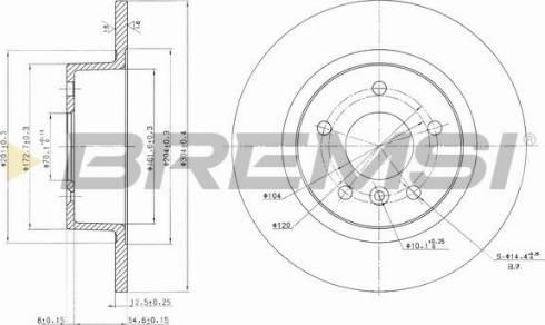 Bremsi CD6874S - Bremžu diski interparts.lv