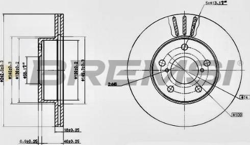 Bremsi CD6876V - Bremžu diski interparts.lv