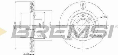 Bremsi CD6870V - Bremžu diski interparts.lv