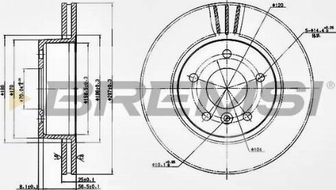 Bremsi CD6873V - Bremžu diski interparts.lv