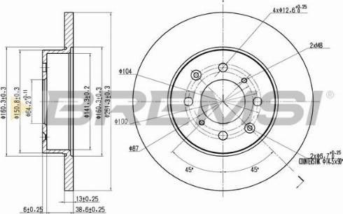 Bremsi CD6872S - Bremžu diski interparts.lv