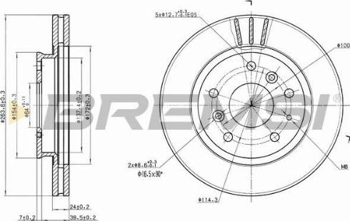 Bremsi CD6395V - Bremžu diski interparts.lv