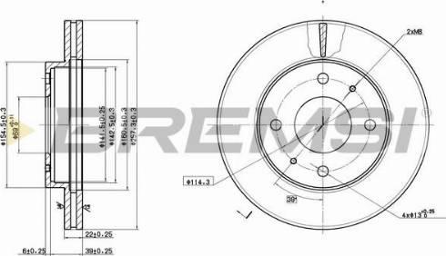 Bremsi CD6390V - Bremžu diski interparts.lv