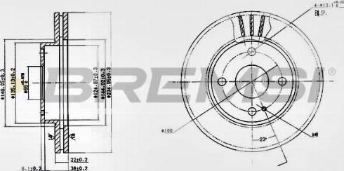 Bremsi CD6393V - Bremžu diski interparts.lv
