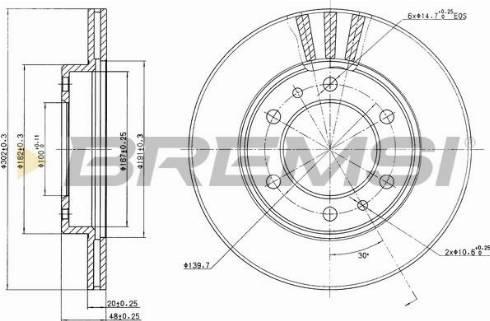 Bremsi CD6347V - Bremžu diski interparts.lv
