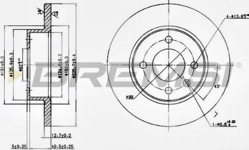 Bremsi CD6359S - Bremžu diski interparts.lv