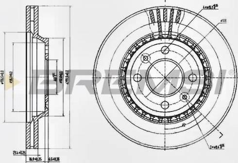 Bremsi CD6354V - Bremžu diski interparts.lv