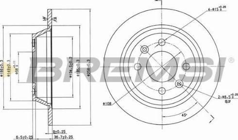 Bremsi CD6355S - Bremžu diski interparts.lv