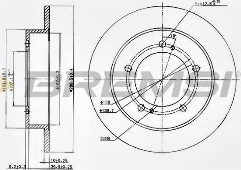 Bremsi CD6351S - Bremžu diski interparts.lv