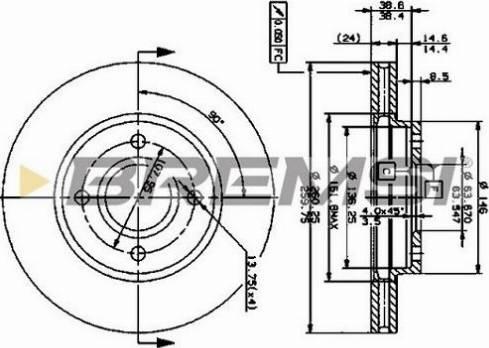 Bremsi CD6364V - Bremžu diski interparts.lv