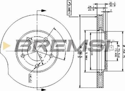 Bremsi CD6366V - Bremžu diski interparts.lv