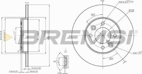 Bremsi CD6361S - Bremžu diski interparts.lv