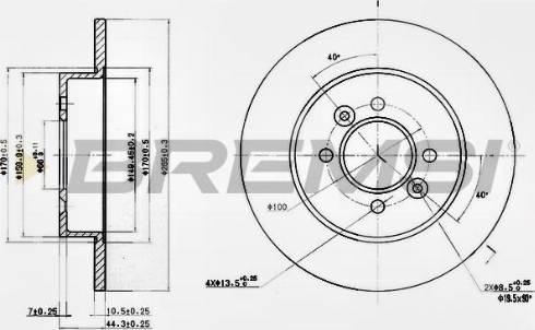Bremsi CD6362S - Bremžu diski interparts.lv