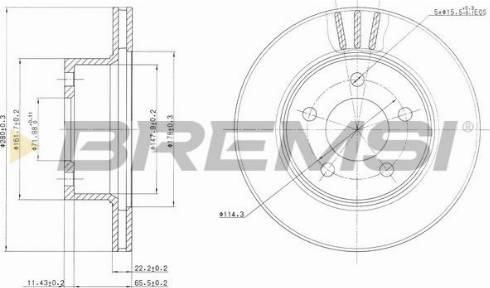 Bremsi CD6367V - Bremžu diski interparts.lv