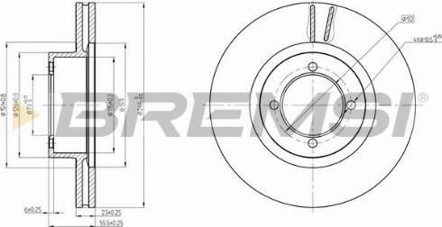 Bremsi CD6305V - Bremžu diski interparts.lv