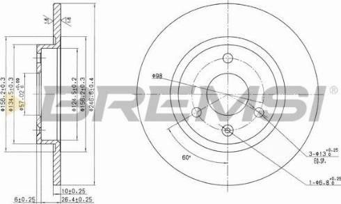 Bremsi CD6316S - Bremžu diski interparts.lv