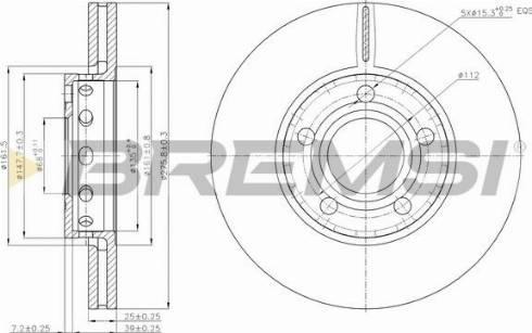 Bremsi CD6311V - Bremžu diski interparts.lv