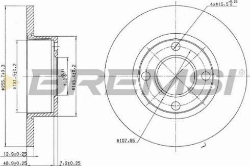 Bremsi CD6318S - Bremžu diski interparts.lv