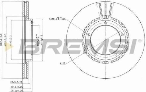 Bremsi CD6312V - Bremžu diski interparts.lv