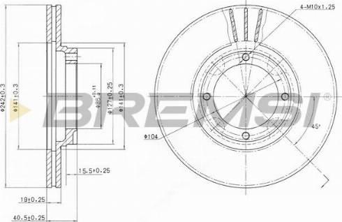 Bremsi CD6389V - Bremžu diski interparts.lv