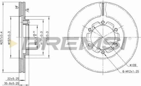 Bremsi CD6385V - Bremžu diski interparts.lv