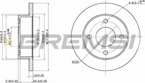 Bremsi CD6381S - Bremžu diski interparts.lv