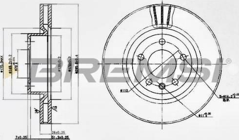 Bremsi CD6330V - Bremžu diski interparts.lv