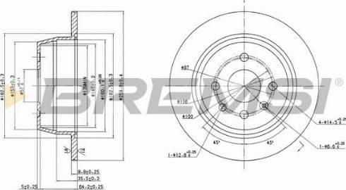 Bremsi CD6331S - Bremžu diski interparts.lv